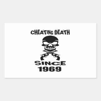 Adesivo Retangular Design de engano do aniversário da morte desde