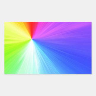 Adesivo Retangular Design do espectro do arco-íris