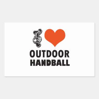 Adesivo Retangular Design do handball