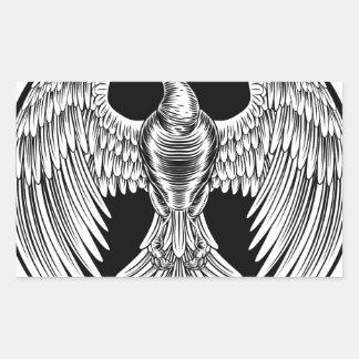 Adesivo Retangular Design do pássaro do fogo de Phoenix