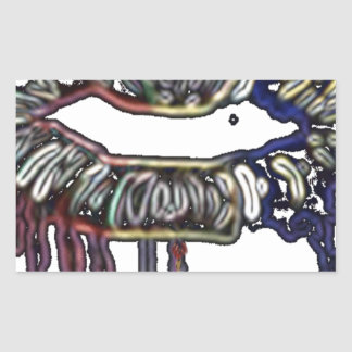Adesivo Retangular Design dos lábios do arco-íris
