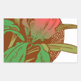 Adesivo Retangular Design floral