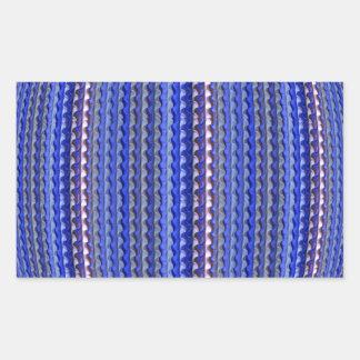 Adesivo Retangular Design geométrico roxo colorido brilhante mega