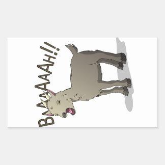 Adesivo Retangular Design gritando do macarronete do Doodle da cabra