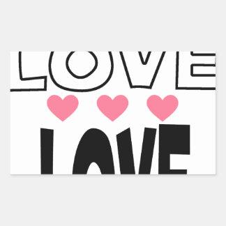 Adesivo Retangular design legal do amor