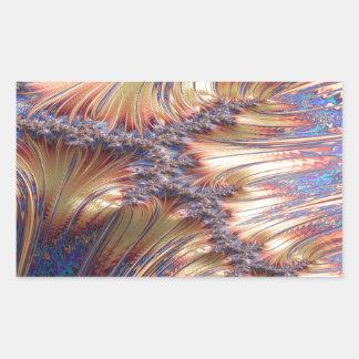 Adesivo Retangular Design reflexivo tripartido do fractal do por do