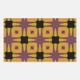 Adesivo Retangular Design retro do divertimento do starburst