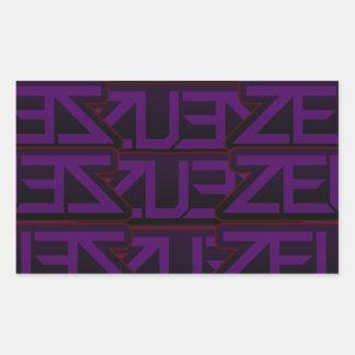 Adesivo Retangular design roxo do zeus