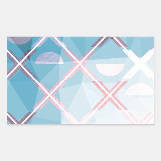 Adesivo Retangular Design triangulate abstrato de XOX