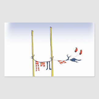 Adesivo Retangular Dia da lavagem do futebol, fernandes tony