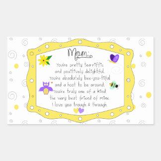 Adesivo Retangular Dia das mães 2017