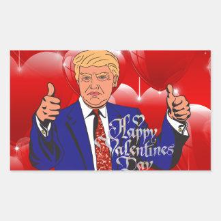 Adesivo Retangular dia dos namorados Donald Trump