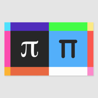 Adesivo Retangular dia feliz do pi do colorblock