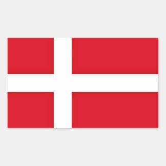 Adesivo Retangular Dinamarca inspirou o teste padrão da bandeira