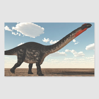 Adesivo Retangular Dinossauro do Apatosaurus no deserto - 3D rendem