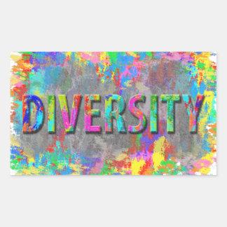 Adesivo Retangular Diversidade