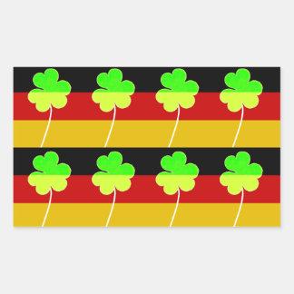 Adesivo Retangular Divertimento alemão irlandês de St Patrick do