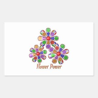 Adesivo Retangular Divertimento flower power