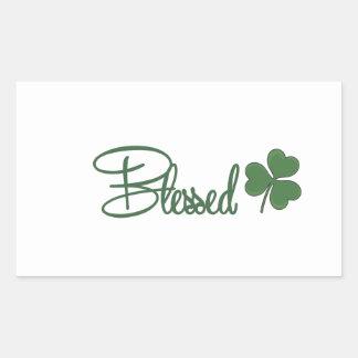 Adesivo Retangular ☘ do design do dia de St Patrick abençoado