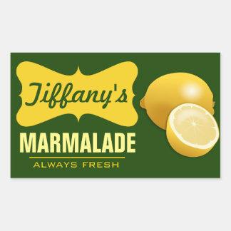 Adesivo Retangular Doce de fruta orgânico natural do limão do doce |