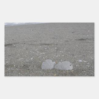 Adesivo Retangular Dólares de areia da praia
