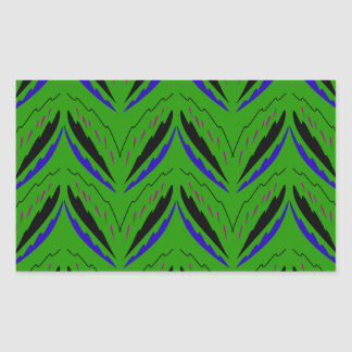 Adesivo Retangular Eco verde dos elementos do design