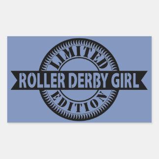 Adesivo Retangular Edição limitada da menina de Derby do rolo, design