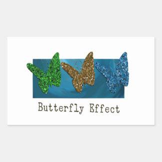 Adesivo Retangular Efeito de borboleta