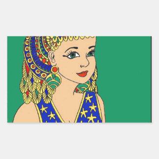 Adesivo Retangular Egípcio