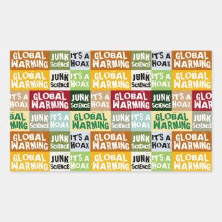 Adesivo Retangular Embuste do aquecimento global