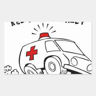 Adesivo Retangular emt do paramédico