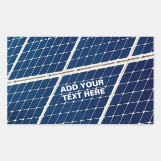 Adesivo Retangular Energias solares