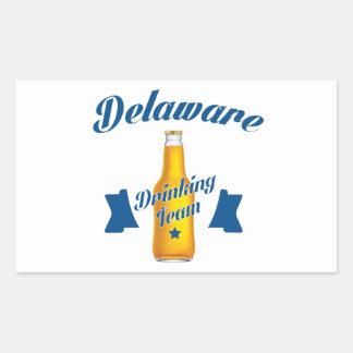 Adesivo Retangular Equipe do bebendo de Delaware