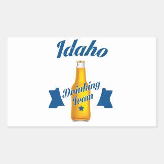 Adesivo Retangular Equipe do bebendo de Idaho