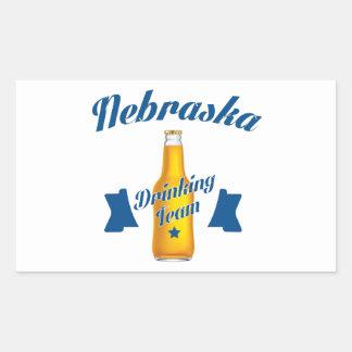 Adesivo Retangular Equipe do bebendo de Nebraska