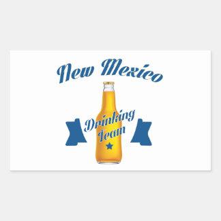 Adesivo Retangular Equipe do bebendo de New mexico