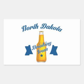 Adesivo Retangular Equipe do bebendo de North Dakota