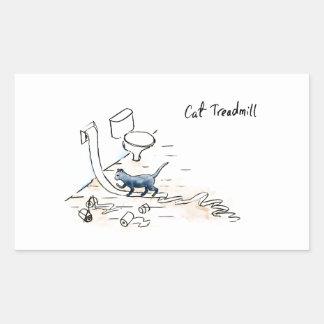Adesivo Retangular Escada rolante cómica do gato