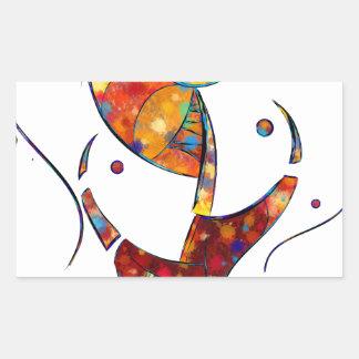 Adesivo Retangular Espanessua - flor espiral imaginária