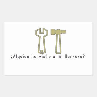 Adesivo Retangular Espanhol-Ferreiro