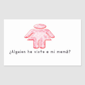 Adesivo Retangular Espanhol-Momma