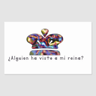 Adesivo Retangular Espanhol-Rainha