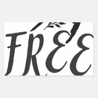 Adesivo Retangular espírito livre com o pássaro bonito da andorinha