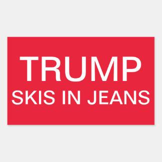 Adesivo Retangular Esquis do trunfo nos jeans