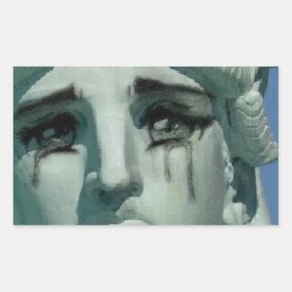 Adesivo Retangular Estátua da liberdade de grito