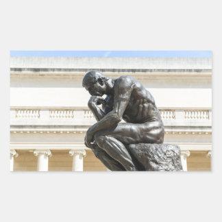 Adesivo Retangular Estátua do pensador de Rodin
