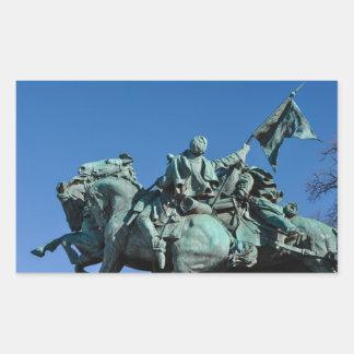 Adesivo Retangular Estátua do soldado da guerra civil em Washington