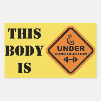 Adesivo Retangular Este corpo está sob a construção