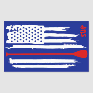 Adesivo Retangular Esteja acima de remo a bandeira dos E.U.