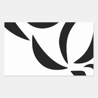 Adesivo Retangular Estilizado aumentou
